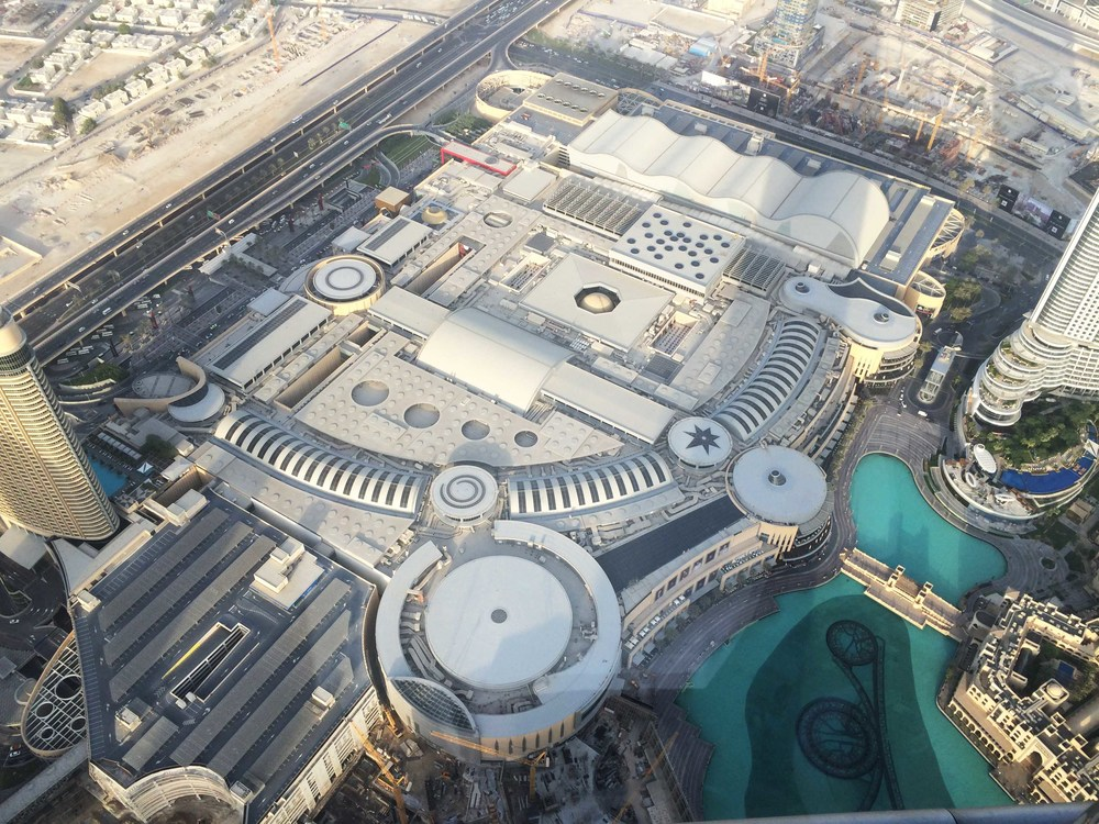 Dubai Mall from the Burj Khalifa