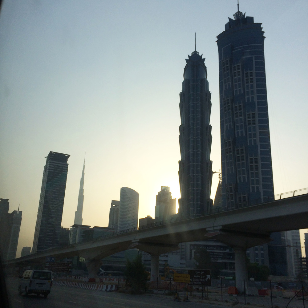 The last view of Dubai on our way to the airport