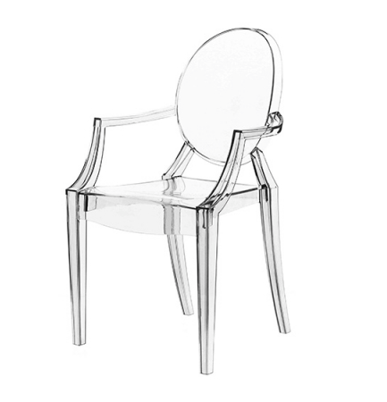 Louis Ghost chair (2002) - pic via  www.starck.com