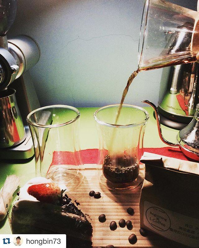 #Repost @hongbin73 with @repostapp. ・・・ 一壺咖啡,一份甜點,兩個杯子,不曉得往後會不會有機會跟你喝一杯咖啡 #chemex #肯亞水洗冽里產區AA露奇拉 #mibuu #coffee #獨享 #來一杯 #不斷 #修正 #粉水比例#只為了沖出屬於自已#咖啡 #mibuu #coffee #glass #drink #happy #fresh