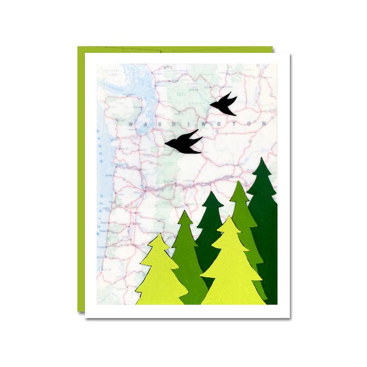Map Art Cards — Rachel Ann Austin