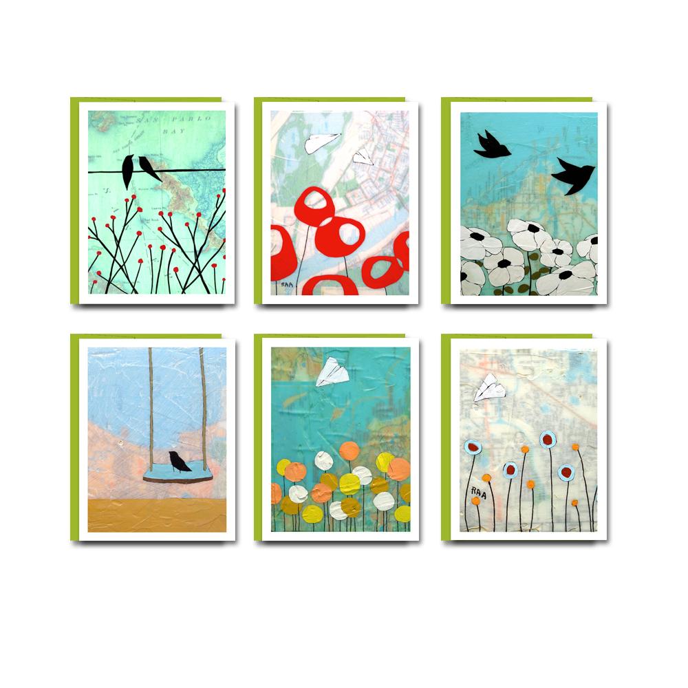 Map Card Austin Map Card Set / Everyday Blank Box Card Set of 6 — Rachel Ann Austin