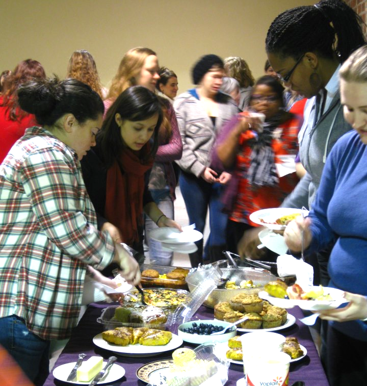 Winter Warm-Up 2013 featuring speaker Dr. Rosalie DeRosset and a delicious brunch.