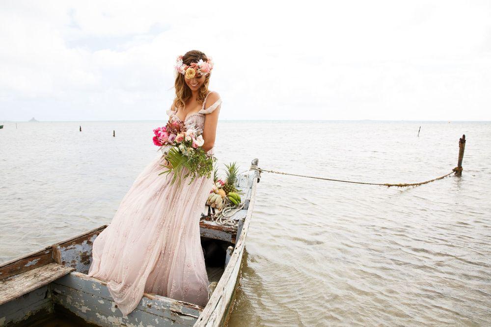Hawaiian Wedding Inspiration — Hawaiian Wedding Dresses | Couture ...