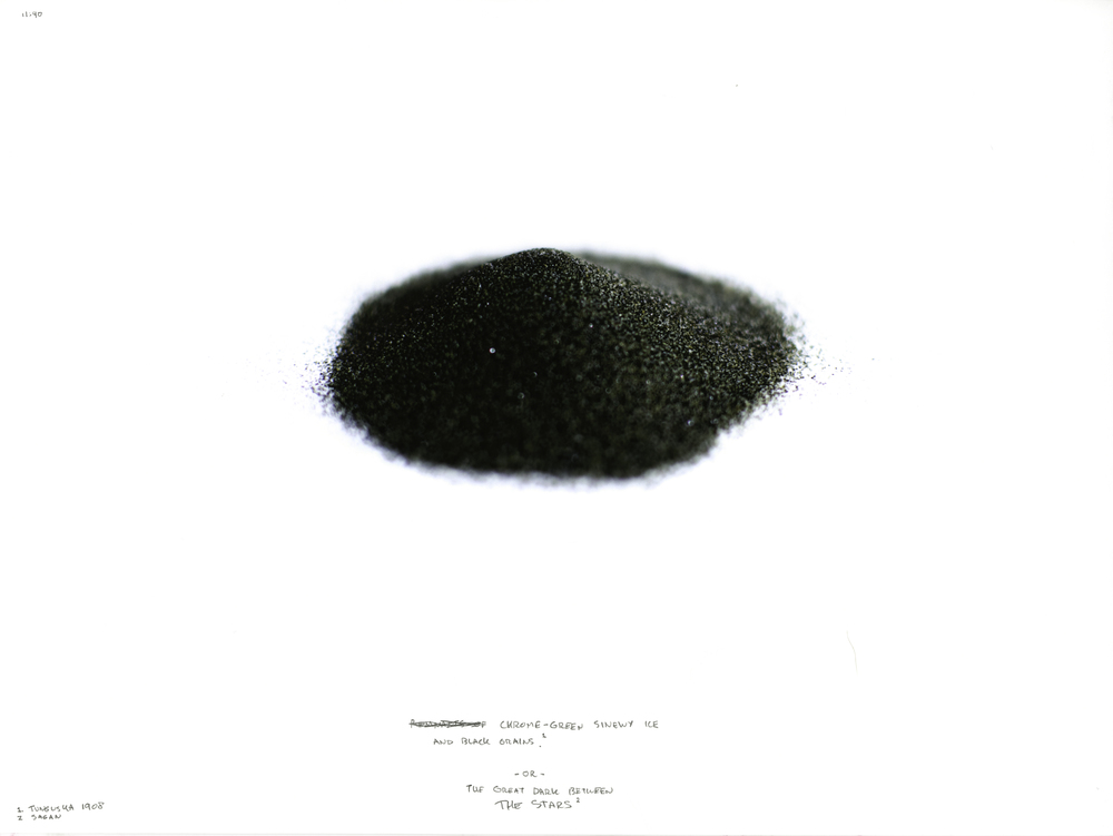 Chrome-Green Sinewy Ice and Black Grains - or - The Great Dark Between THE STARS