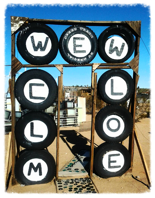 Photo credit: ©amygigialexander 2014/ entrance to the Noah Purifoy Outdoor Museum