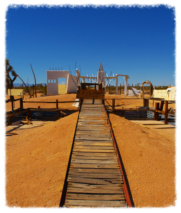 Photo credit: Noah Purifoy Outdoor Museum/Foundation. Art by Noah Purifoy: Earth Piece