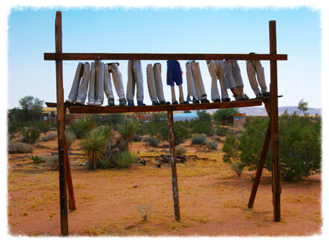 Photo credit: Noah Purifoy Outdoor Museum/Foundation. Art by Noah Purifoy: From the Point of View of the Little People