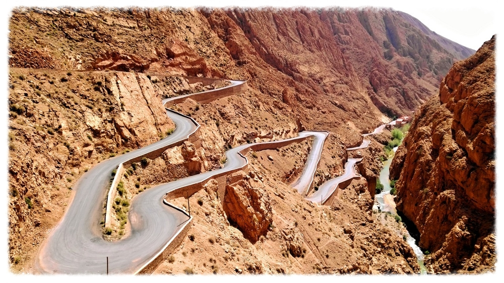 One of the curviest roads in world, from my Morocco journey. Entering the writing life is a lot like driving this road: it can either be scary or thrilling.