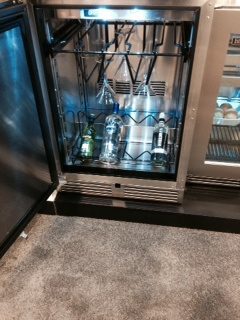 Perlick undercounter Martini refrigerator.