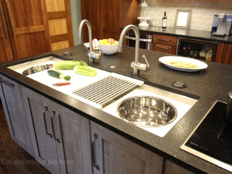 Kitchen design featuring a Galley Sink workstation.