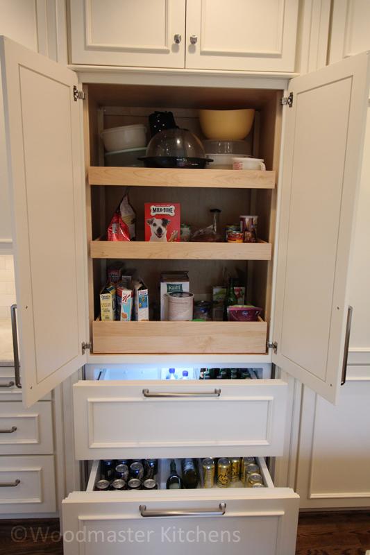 Kitchen design with customized storage accessories.