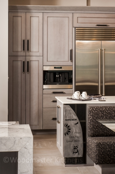 Kitchen design with high end appliances.