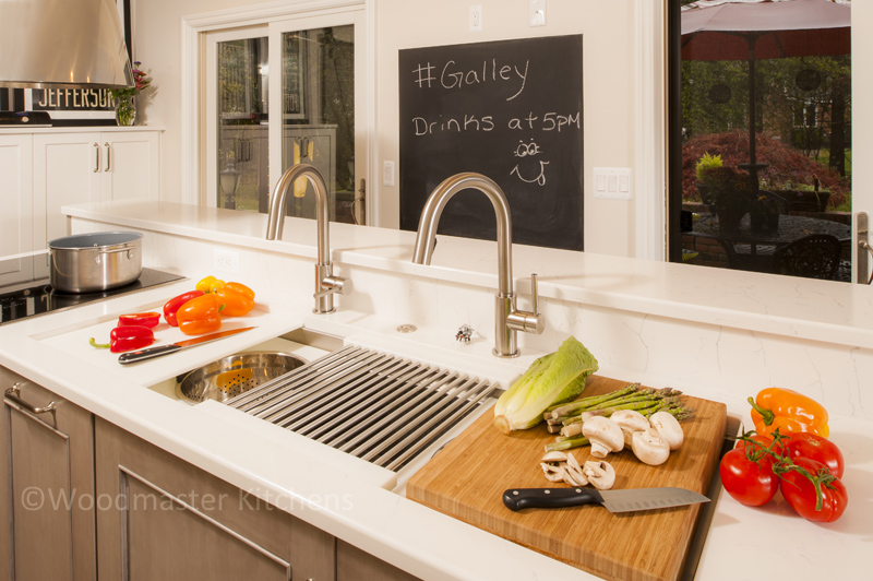 kitchen design with galley sink