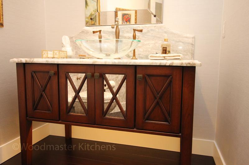 bath design with bronze faucet
