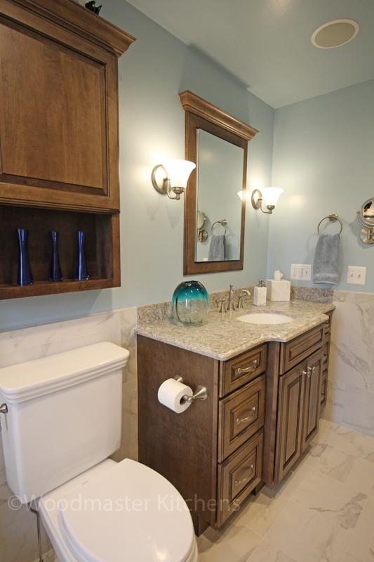 Bathroom design with built in storage
