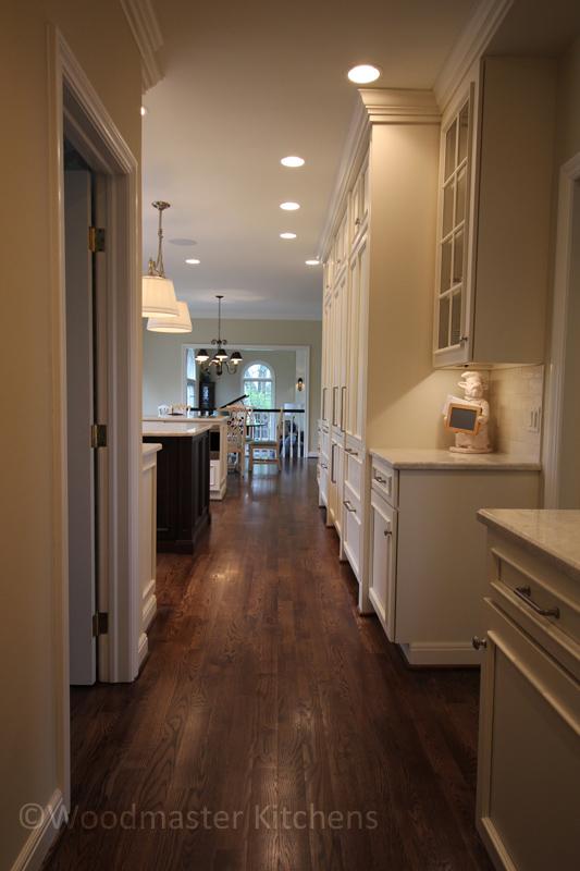 kitchen design with hall pantry storage