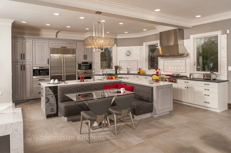 kitchen design with banquette