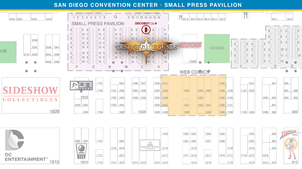 Decobot at San Diego Comic-Con 2013 Map