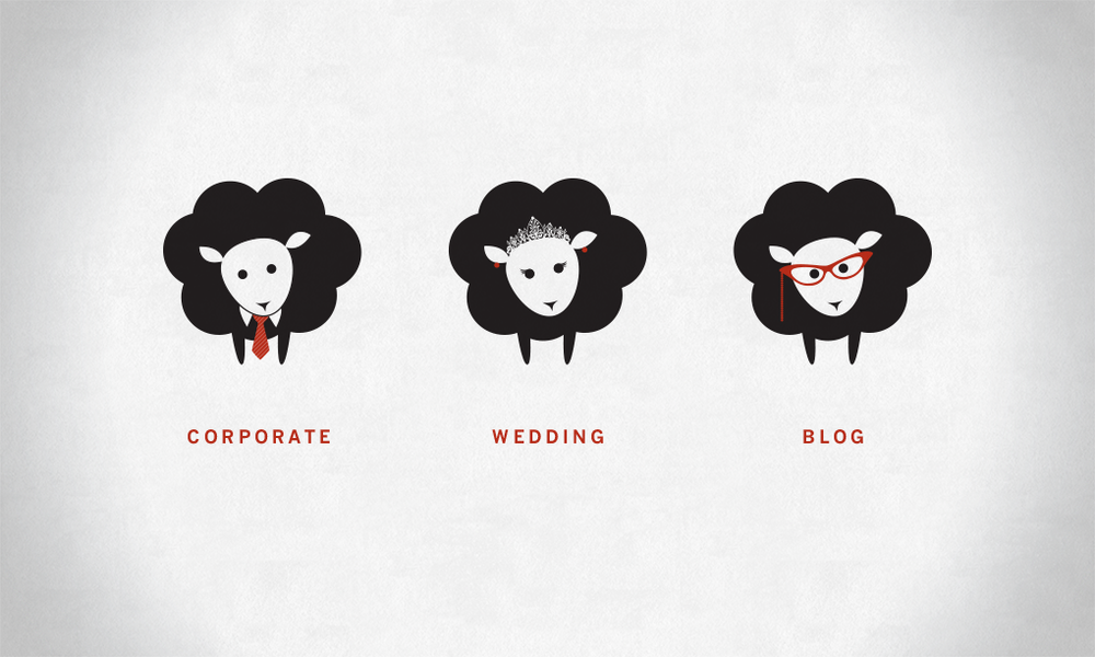Logo icons for Black Sheep Filmworks, a wedding, event and corporate videography studio in Tucson AZ