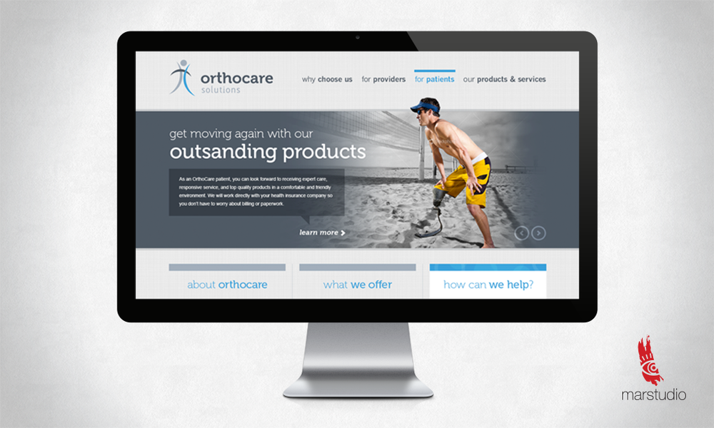 Website design for a manufacturer of prosthetic and orthopedic products in Montgomery County MD