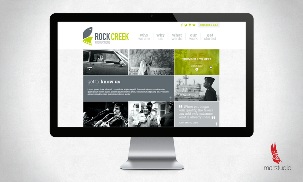 Website design for a production company in Washington DC and Asheville NC