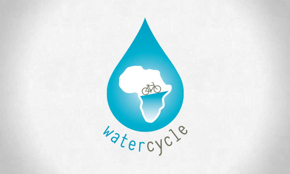 Logo design for a non-profit involving cycling through Africa to raise awareness around clean water issues