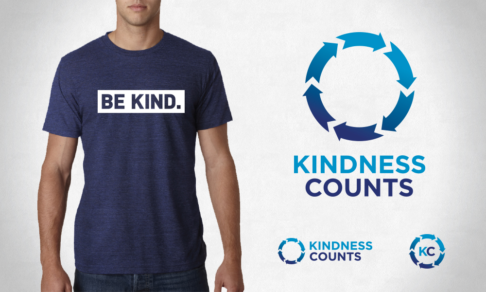 Branding redesign for Kindness Counts, a non-profit that focuses on teaching active kindness to kids of all ages
