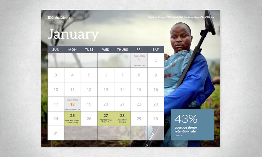 GlobalGiving Calendar