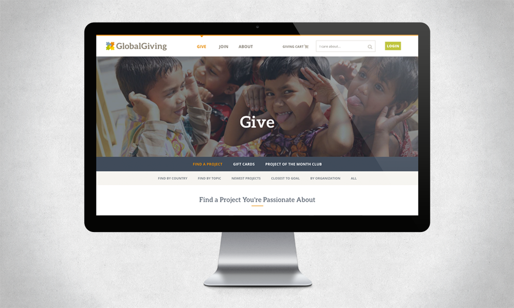 GlobalGiving Website Redesign
