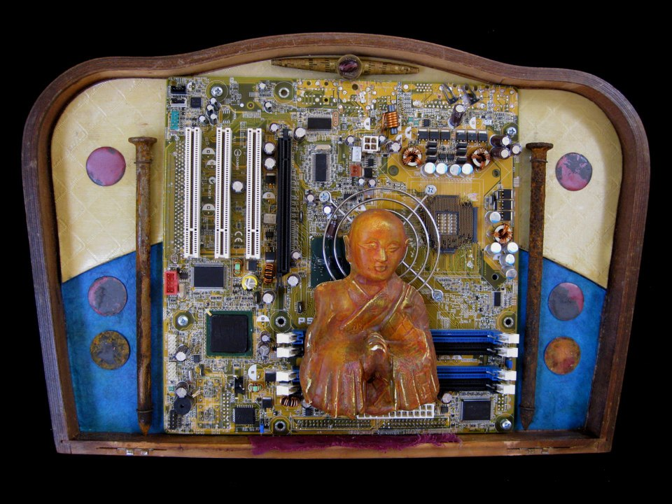 Zazen in the Machine  SOLD