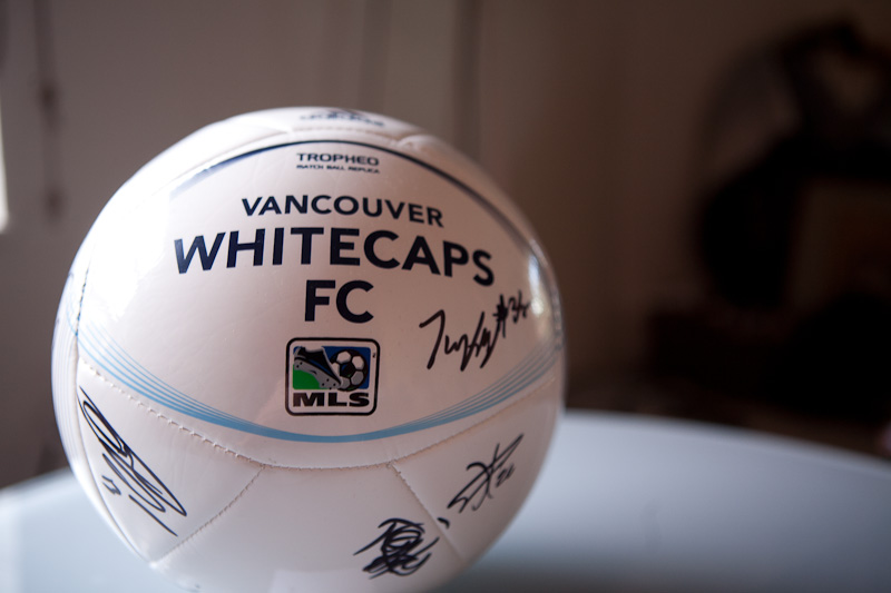Signed 2013 Whitecaps Soccer Ball