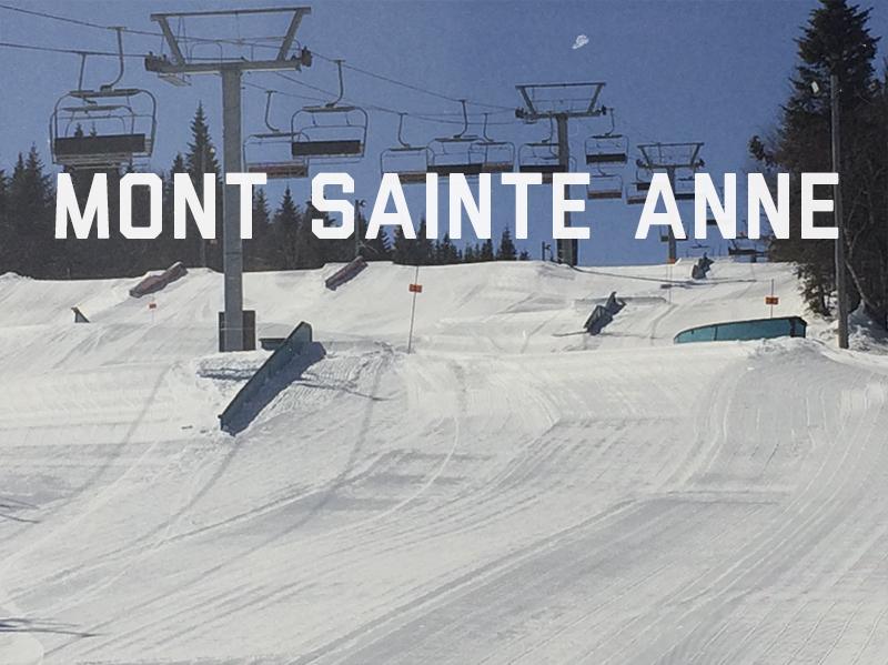 Conception, construction et entretien du parc à neige du Mont Sainte-Anne, 2013 - 2015. Voyez le Plan 3D du parc ici Pour voir le parc en action : Voyez le vidéo du parc ici