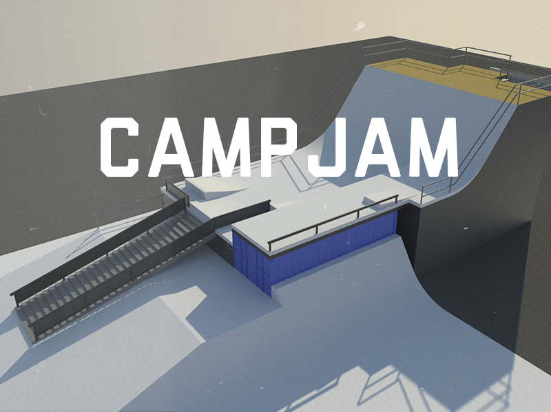Le CampJam est un événement présenté par Homie's, qui se tient au centre-ville de Chicoutimi. Today's a assuré le design et la production des édition 2014 et 2015 de cette compétition.