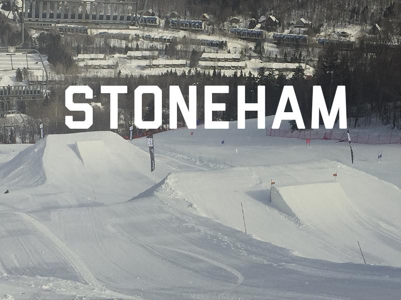 Design, conception et assistance à l'équipe de parc de Stoneham pour la saison 2014-2015. Voyez le Plan 3D du parc ici Pour voir le parc en action : Cliquez ici pour voir le vidéo