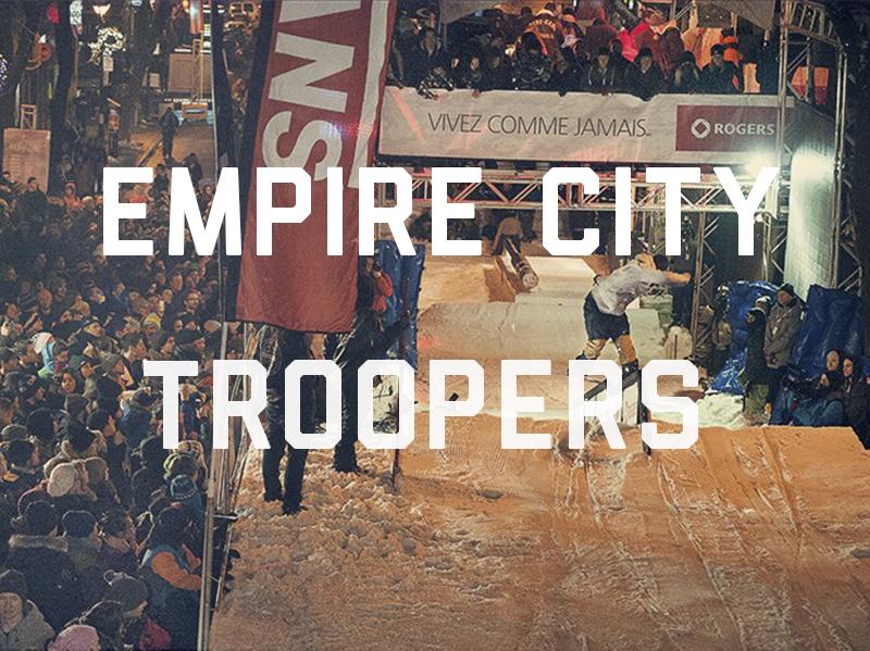Today's à diriger le design et la production du parcours de cette événement qui prenait place sur la rue St-Denis au centre-ville de Montréal .  Empire City Troopers , 2014