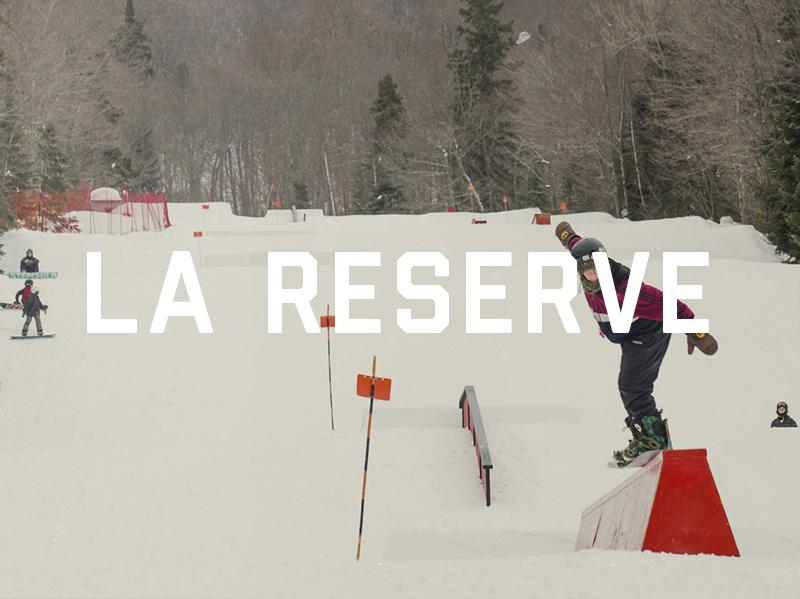 Conception, construction et entretien du parc à neige du Mont La Réserve, 2013 - 2015. Voyez le Plan 3D du parc ici Pour voir le parc en action : Cliquez ici pour voir le vidéo