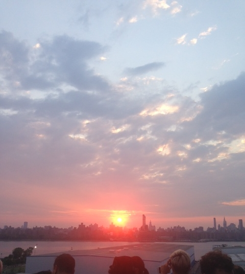 The view from one of my favorite spots in Brooklyn. The top of the Wythe Hotel celebrating the day I was born. BLISS.