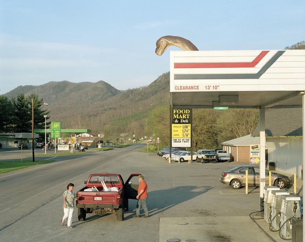 Gas station, Glasgow, Virginia...
