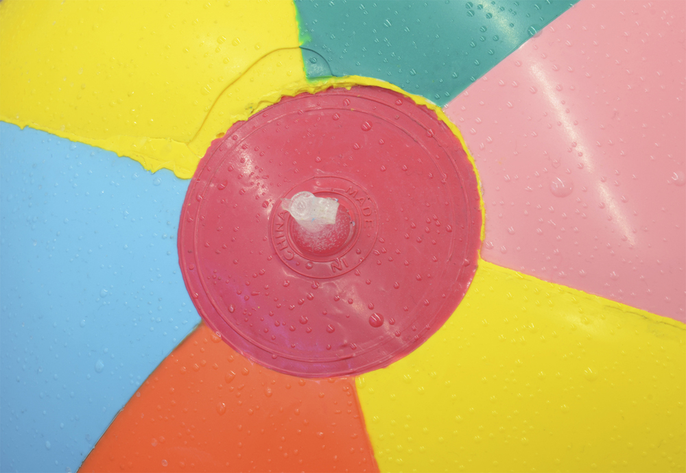 Paul Adair Beach Ball (detail) from Circle Jerks, 2012. Dimensions variable, cast pigmented polyurethane resin. Courtesy of the Artist.