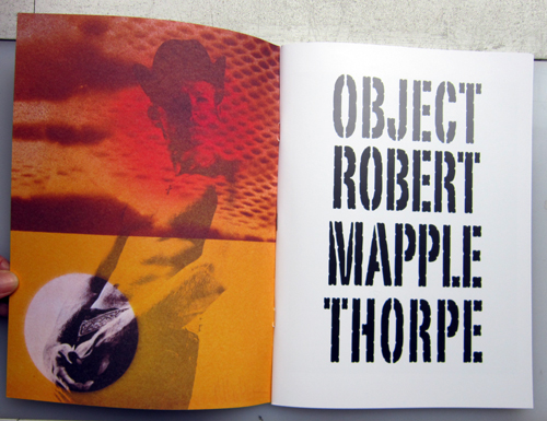 Robter Mapplethorpe, Object, softcover book, 58 pages, edition of 1000