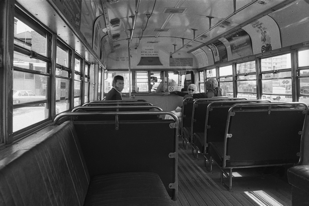 David Wadelton, Bus on Hoddle Street Collingwood, 1976