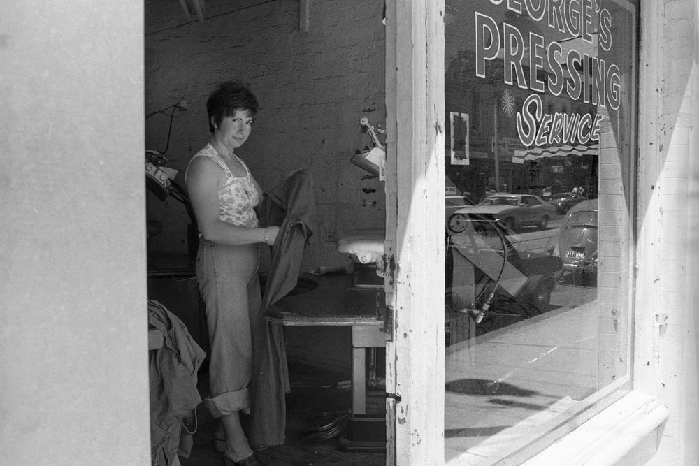 David Wadelton, George's Pressing Service, High St Northcote, 1976
