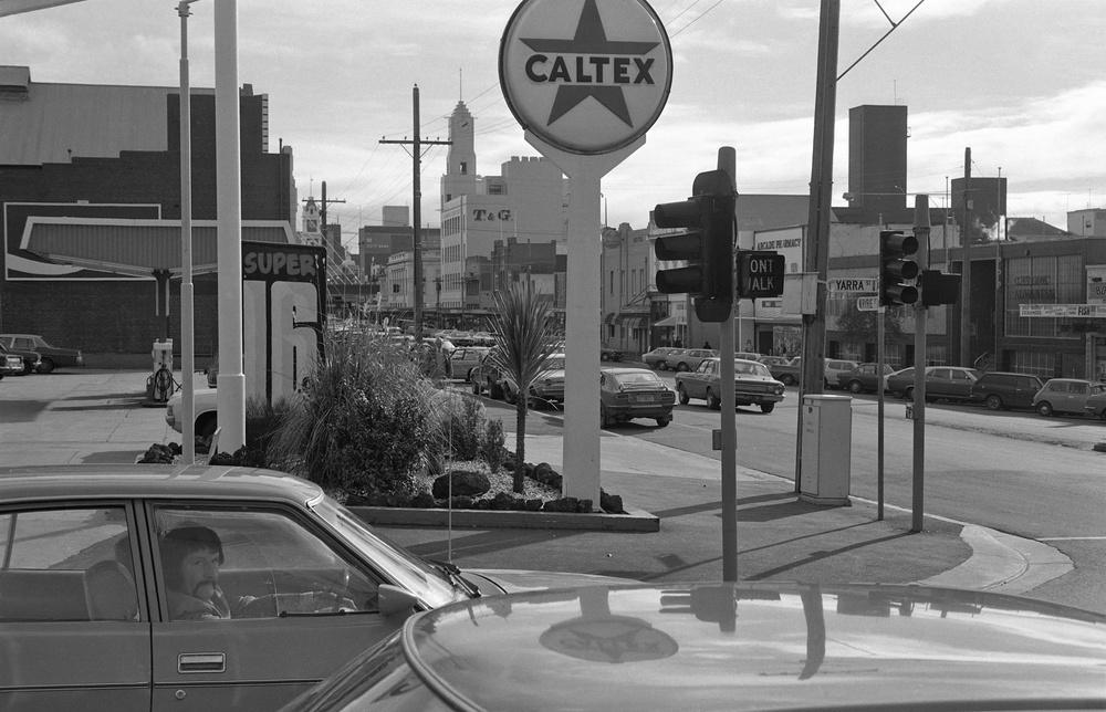 David Wadelton, Caltex service station, Ryrie St Geelong, 1978