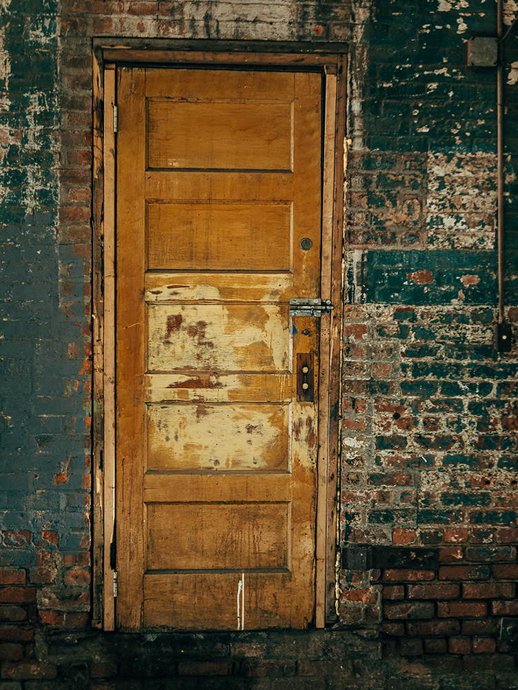 Yellow Factory Door