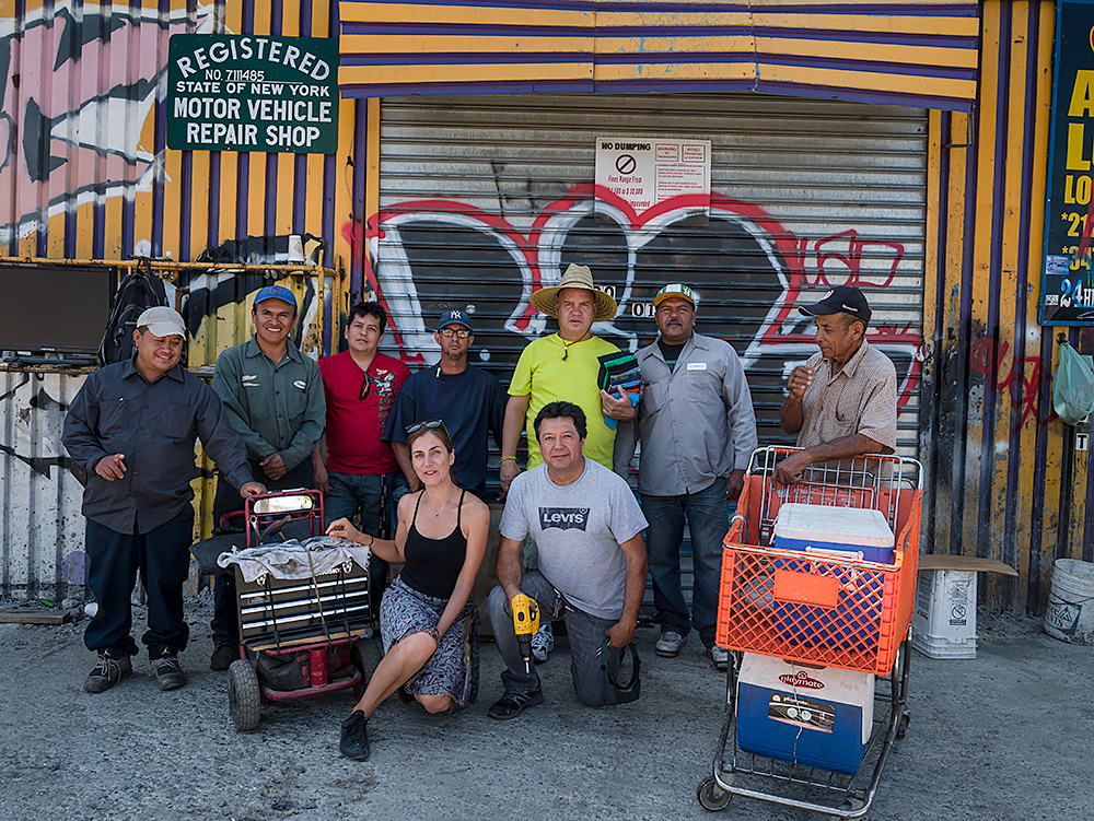 Eni with the guys from Willets Point