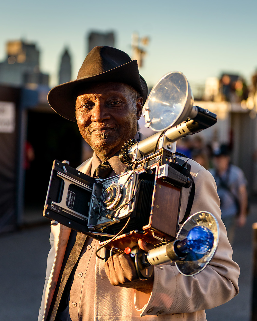 The famous Street Photographer Louis Mendes. You can usually find him photographing people in front of B&H Photo