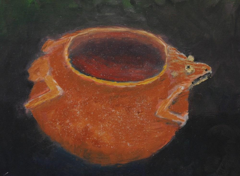 Prehistoric Frog Effigy pot ca 1300 A.D.