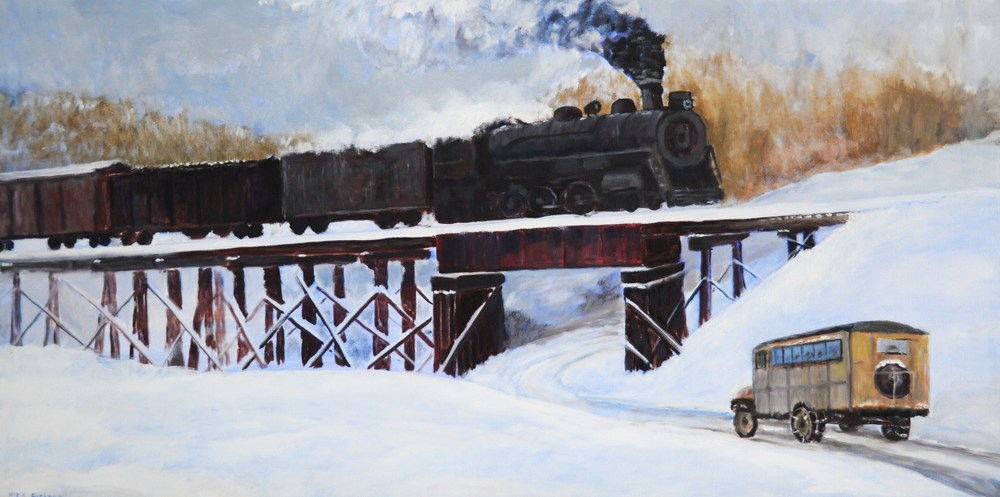 New River Train, Fries, Va, 1930