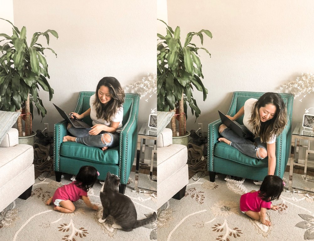 How to Work from Home with a Baby mom blogger Hikari Murakami